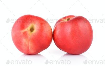 Peach on white background