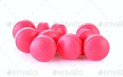 vitamins b on white background