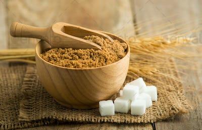 coconut palm sugar against