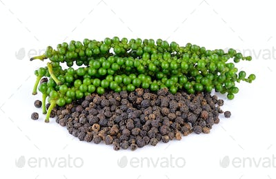 peppercorn on white background