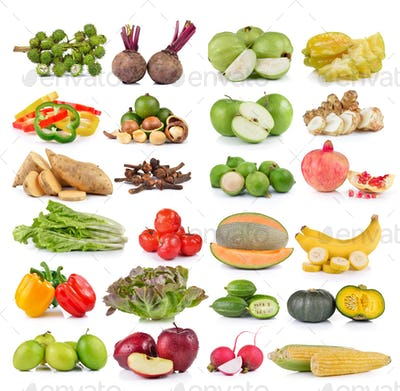 set of fruit and vegetable