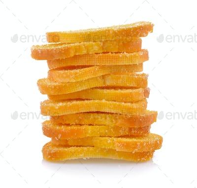 Crispy Bread on white background