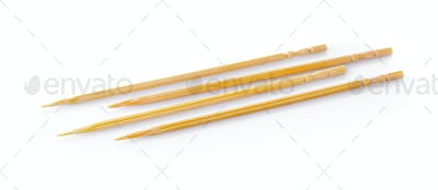 toothpick on white background