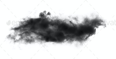 black cloud on whhite background