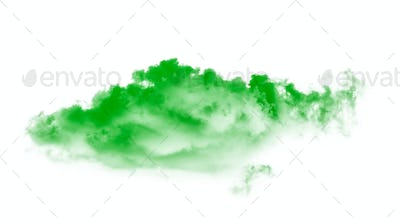green clouds on white background