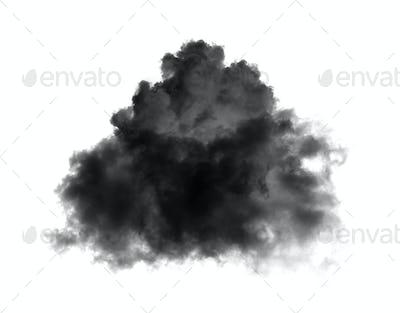 black clouds on black background