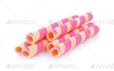 Wafer sticks isolated on white background