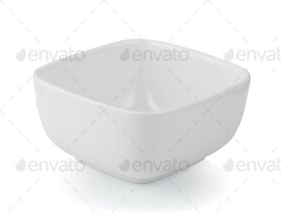 white bowl isolated on white background
