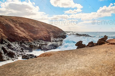 Beautiful landscape of Lanzarote Island