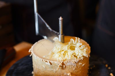 Girolle for cheese closeup