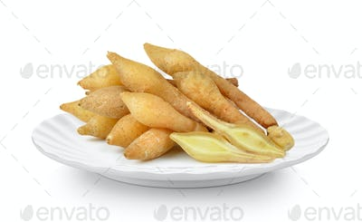 Fingerroot, Kaempfer, Boesenbergia in plate on white background
