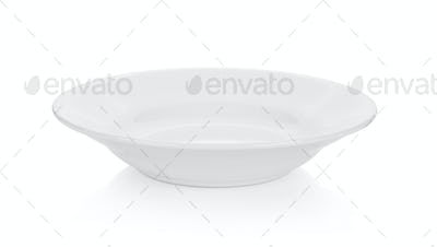Empty plate on white background