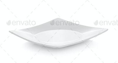 white dish on white background