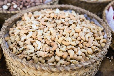 Basket of wonderful cashew nuts