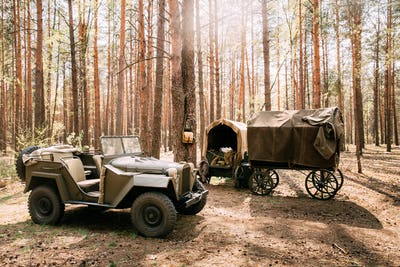 Russian Soviet World War Ii Four-wheel Drive Army Truck Gaz-67 C