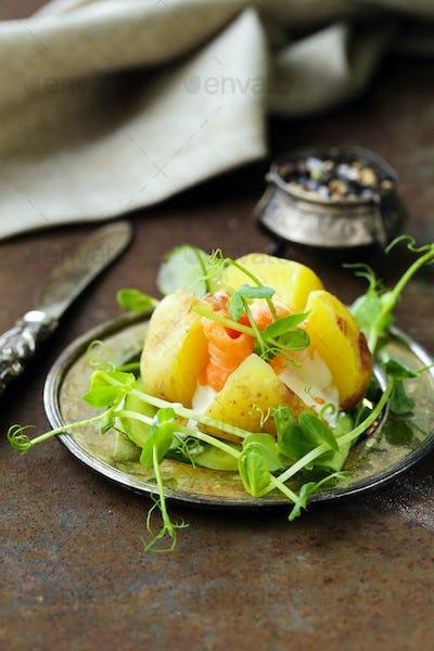 Potato with Cream Cheese