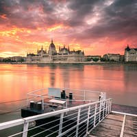 Budapest Parliament at sunrise
