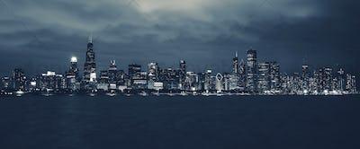 Chicago Night Time Skyline