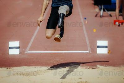 athlete jumper with limb loss leg