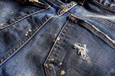 surface of old jeans