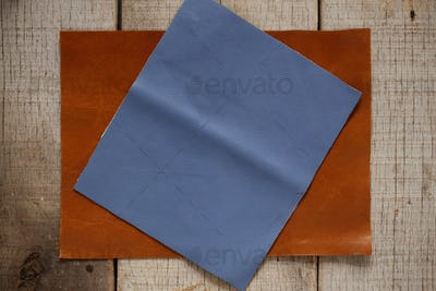 leather on the old wooden