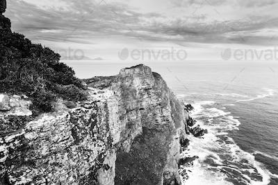 Cape Of Good Hope South Africa Black and White