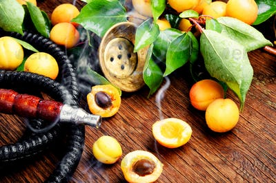 Eastern shisha with apricot