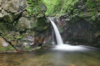 Waterfall on the Silver Brook, Czech Republic