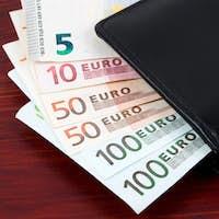 Wallet with European money
