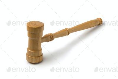 Single wooden gavel