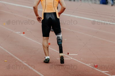 male athlete disabled amputee