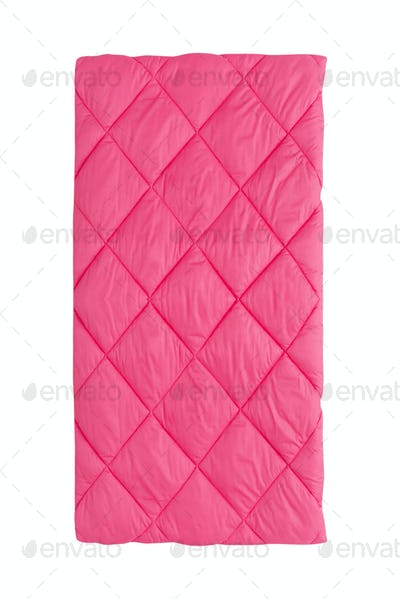 pink blanket isolated on white