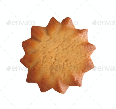 sand cookie isolated on white