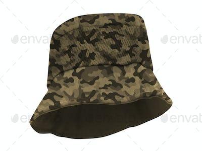 fishing hat isolated on whgite