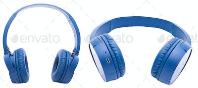 Wireless headphones isolated over white background