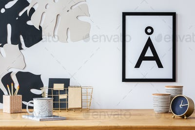 Desk and wall decoration