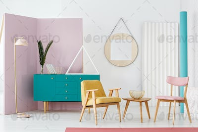 Colorful living room interior