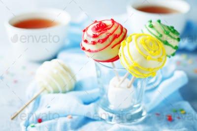 White chocolate Cake pops