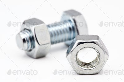metalic nuts and bolts