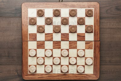 Wooden Draughts Game