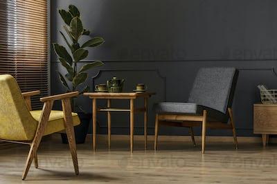 Simple retro interior concept