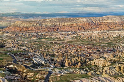 Great view on Goreme from Uchisar fortress