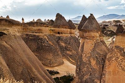 Fairy houses stone cliffs