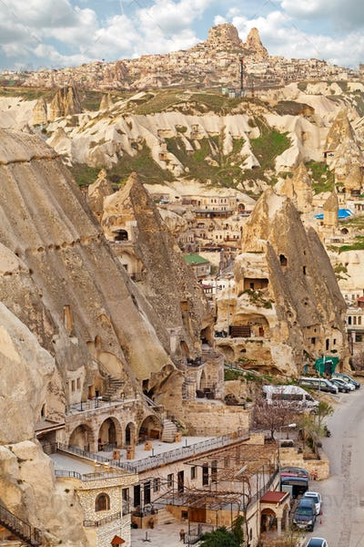Famous cave hotels in Goreme, Capadokkia