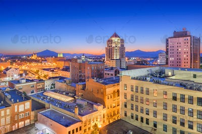 Roanoke, Virginia, USA Downtown Skyline