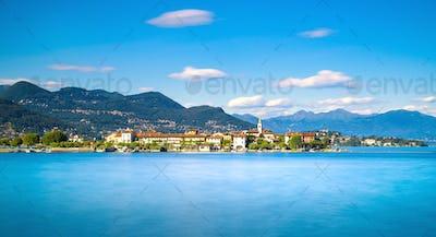 Isola dei Pescatori, fisherman island in Maggiore lake, Borromea