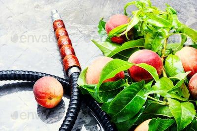 Eastern shisha with peach