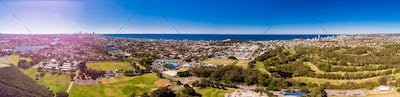 Aerial view of Surfers Paradise on the Gold Coast, Queendsland,