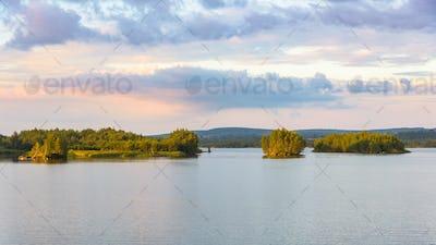 Pogoria 4 lake at sunset