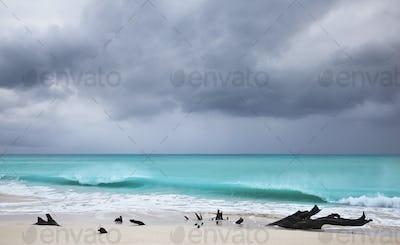 Storm At Caribbean Beach, Antigua